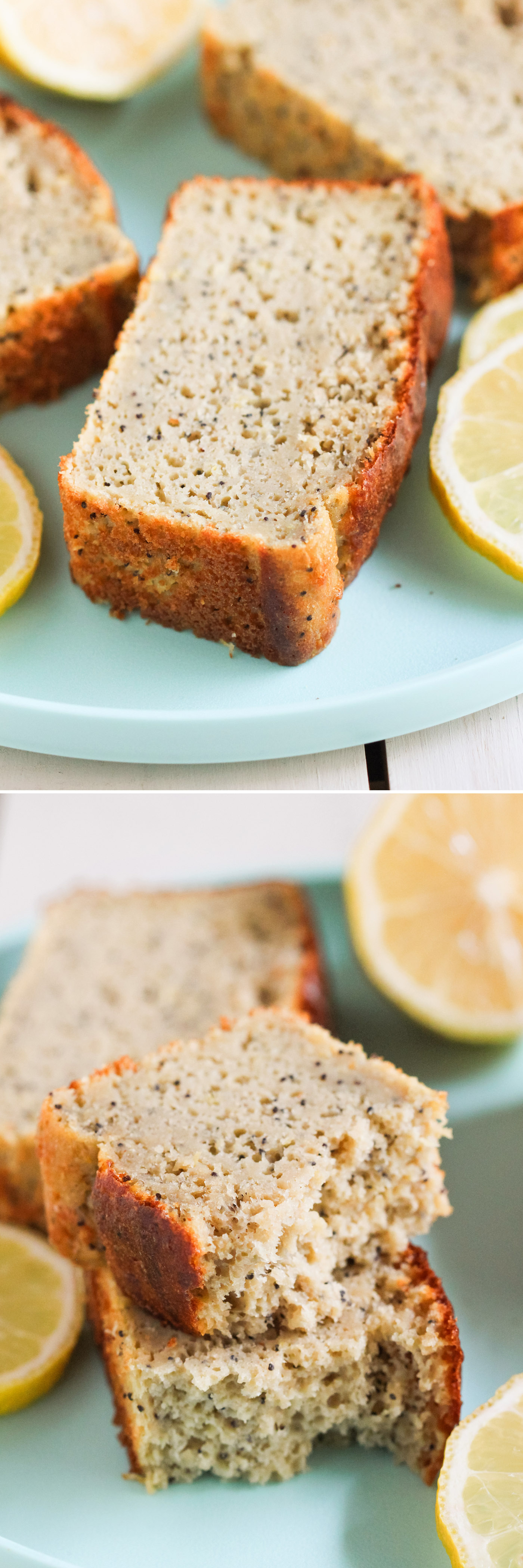 This Healthy Lemon Poppyseed Cake doesn't taste healthy in the slightest! It's sweet, it's moist, it's springy and fluffy -- everything a cake should be. The only difference is that this recipe is sugar free, low fat, high protein, and 100% whole grain! Healthy Dessert Recipes with sugar free, low calorie, low fat, low carb, high protein, gluten free, dairy free, vegan, and raw options at the Desserts With Benefits Blog (www.DessertsWithBenefits.com)