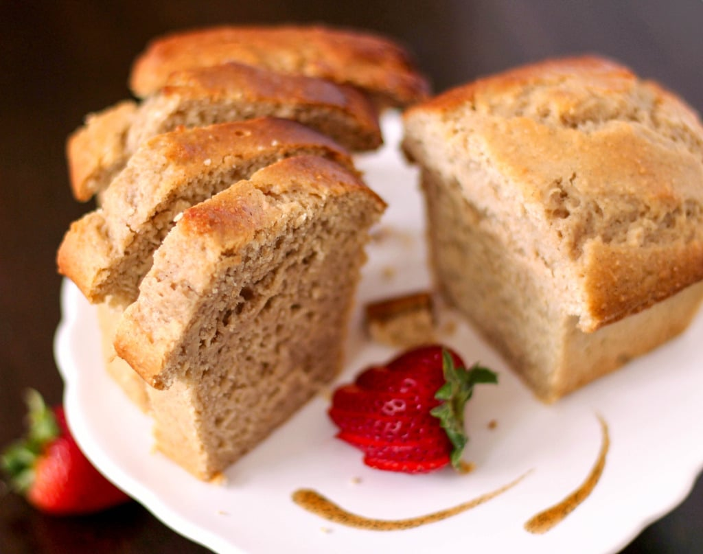 Healthy Whole Wheat Vanilla Bean Pound Cakes (low fat, low sugar, high protein)