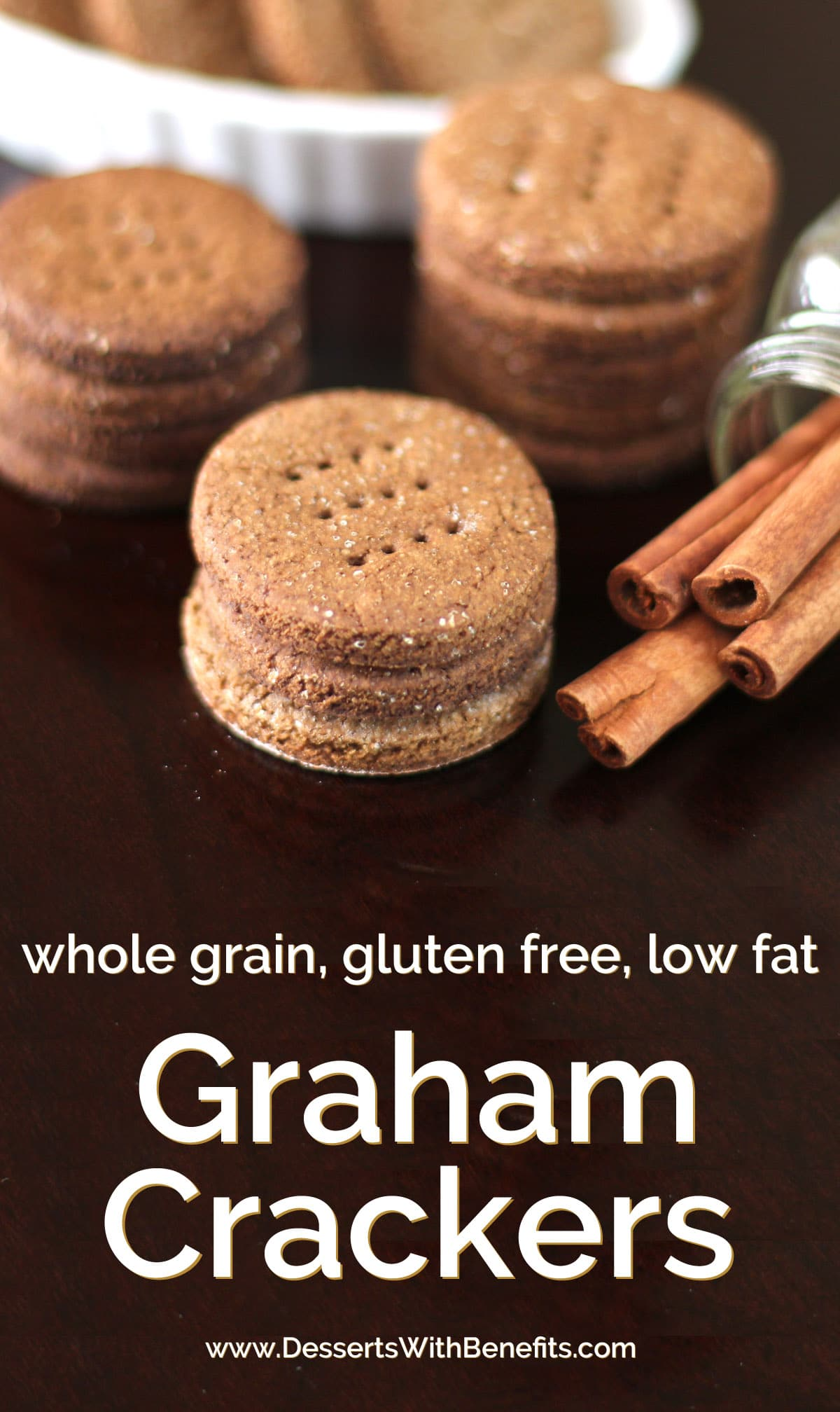 Homemade Gluten Free Graham Crackers made whole grain and low fat!