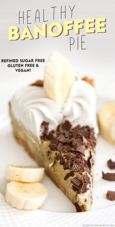 [14 healthy pie recipes to celebrate Pi Day] Healthy Banoffee Pie (refined sugar free, gluten free, vegan)
