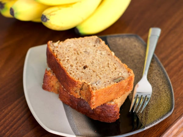 Low Fat High Fibre Cake Recipes: Healthy Banana Bread Pound Cake Recipe