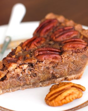 Healthy Vegan Pecan Pie Recipe from the Naughty or Nice Cookbook (the ULTIMATE healthy dessert cookbook!)