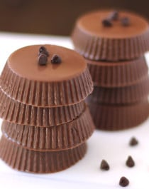 Healthy Nutella Chocolate Candy Cups