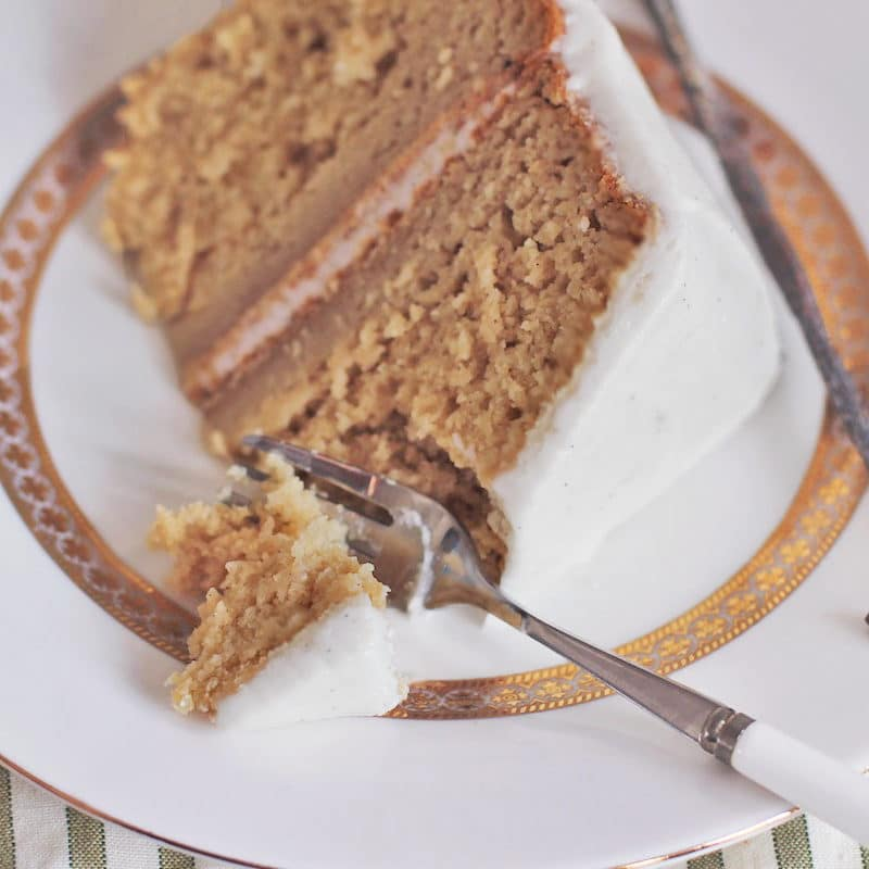 Healthy GlutenFree Vanilla Bean Cake with Vanilla Bean Frosting Recipe