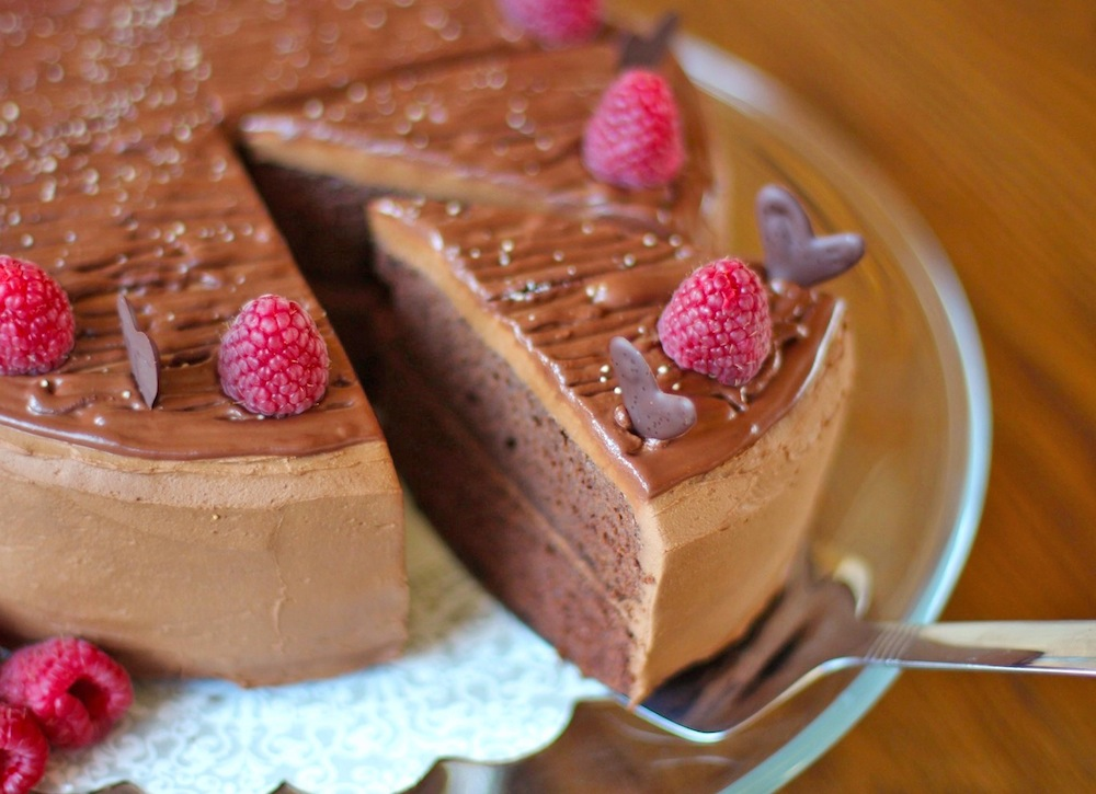 Healthy Quintuple Chocolate Cake Desserts with Benefits