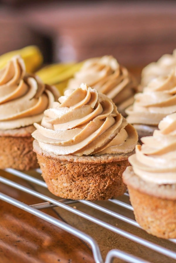 Gluten Free Banana Cupcakes With Sugar Free Peanut Butter