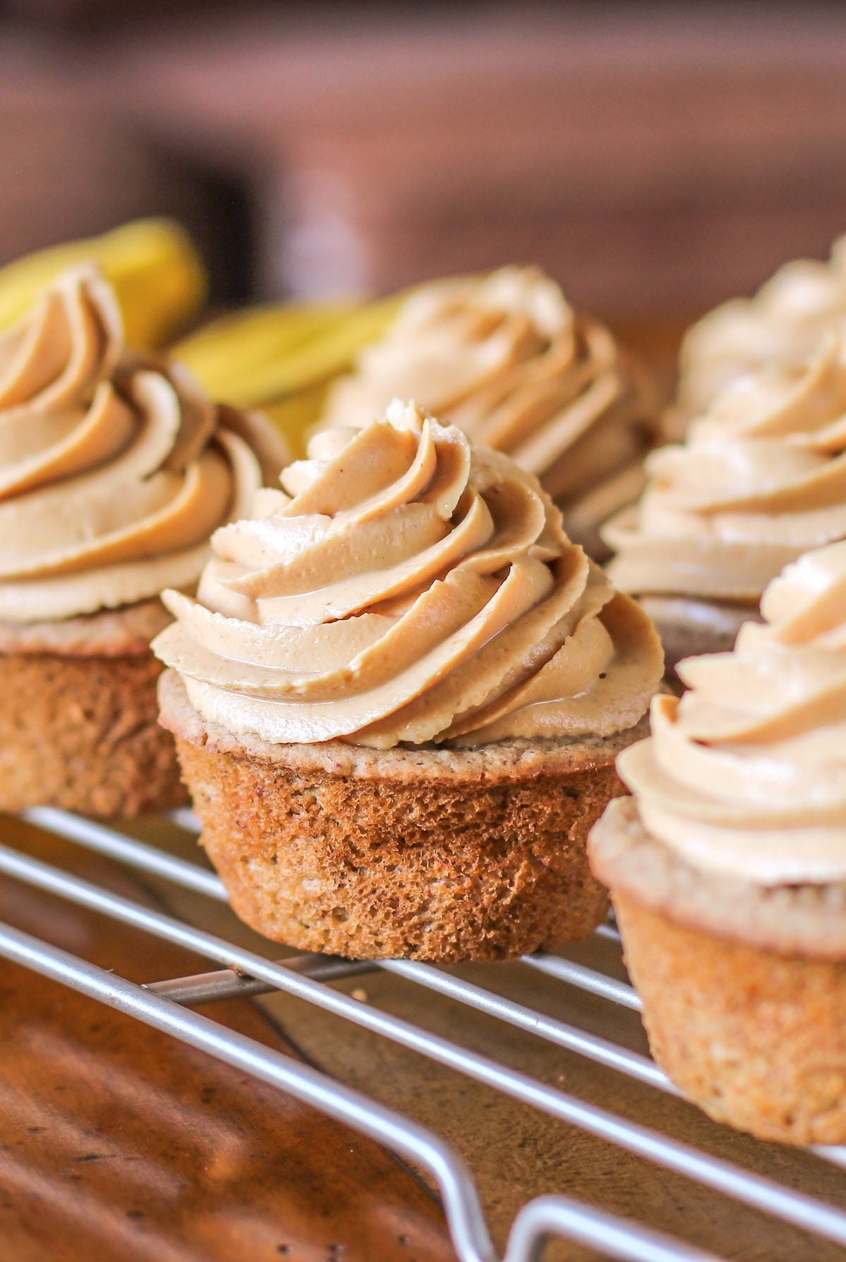Blogger Business Goals: From Student to Blogger to Author to... what's next? Here are the Banana Cupcakes with Peanut Butter Frosting from the Naughty or Nice Cookbook: The ULTIMATE Healthy Dessert Cookbook!