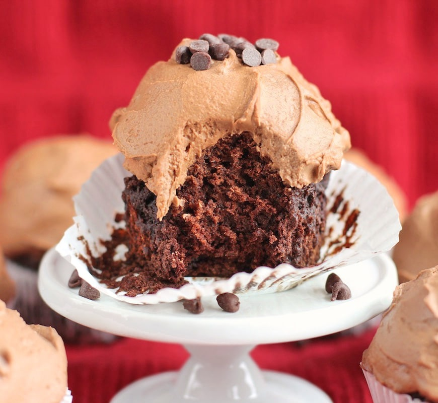 Moist Chocolate Cupcakes with a Special Chocolate Frosting