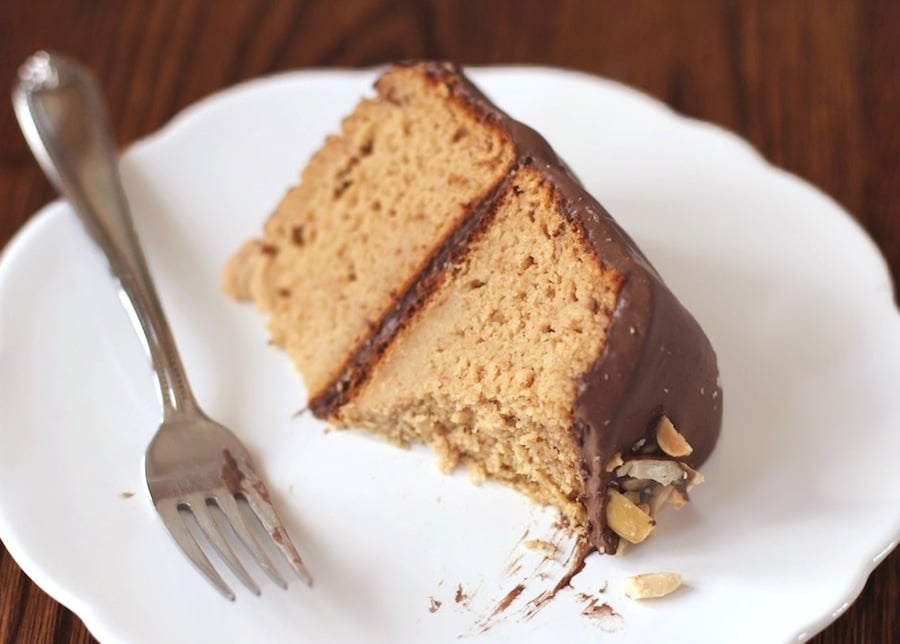Healthy Peanut Butter Cake With Chocolate Frosting Recipe