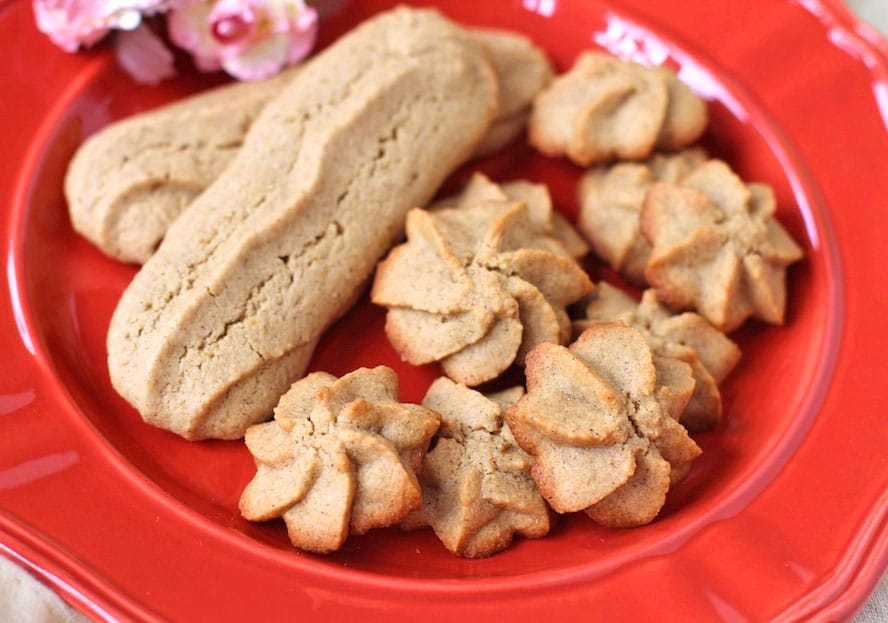 "Healthy ""Brown Sugar"" Spritz Cookies"