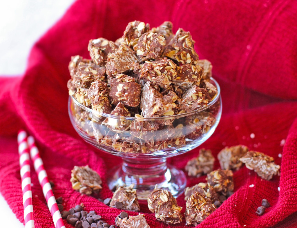 No Bake Chocolate Coconut Granola Clusters