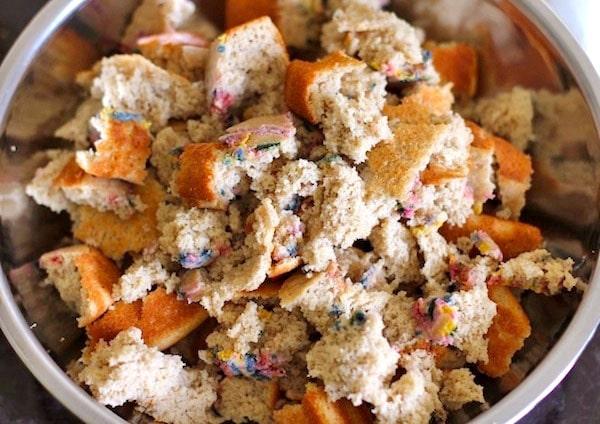 Healthy Funfetti Cake Crumbles