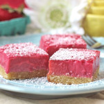 Healthy Raspberry Lemon Bars