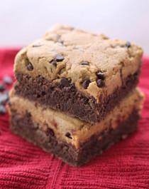 Healthy Cookie Dough Fudge Brownies