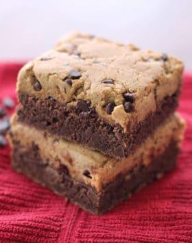 Healthy Cookie Dough Brownies (gluten free, dairy free, vegan)