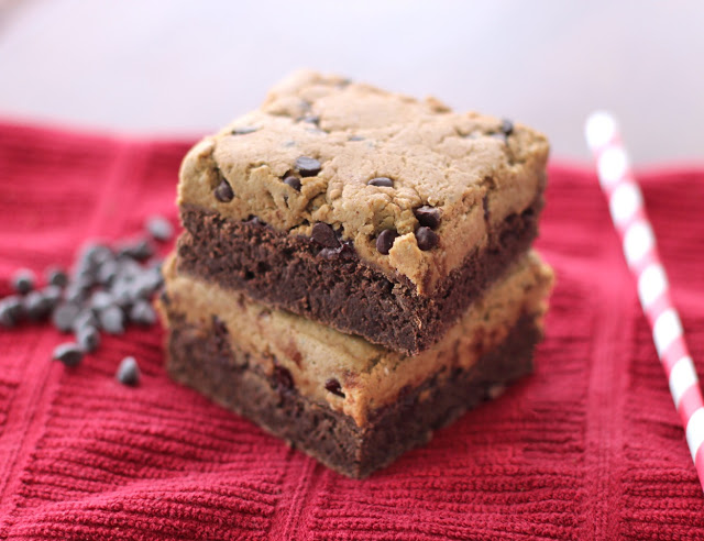 Healthy Cookie Dough Fudge Brownies