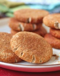 Healthy Snickerdoodle Cookies