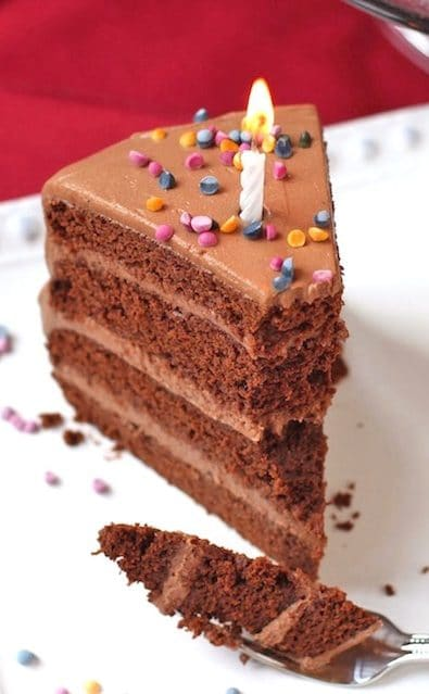 Healthy Chocolate Birthday Cake With Frosting