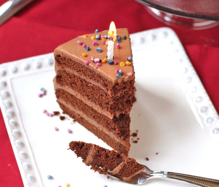 Healthy Chocolate Birthday Cake with Chocolate Frosting GF