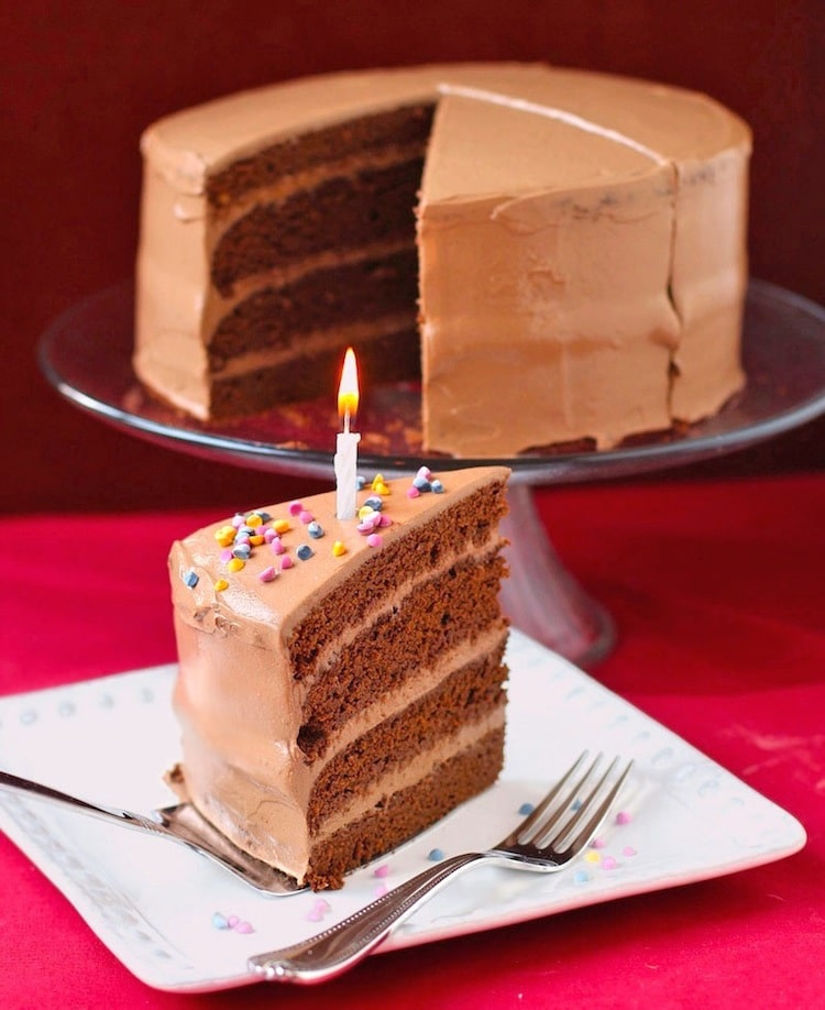Gluten Free Chocolate Birthday Cake with Chocolate Frosting
