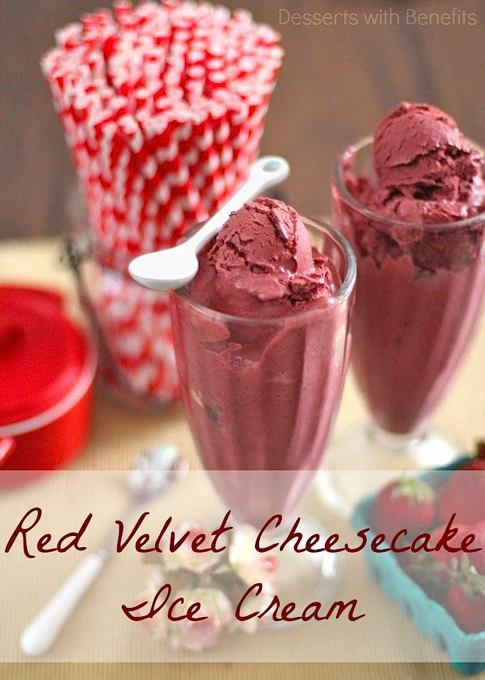 Healthy Red Velvet Cheesecake Ice Cream - Healthy Dessert Recipe Blog