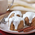 Healthy Cinnamon Buns with Greek Yogurt Frosting