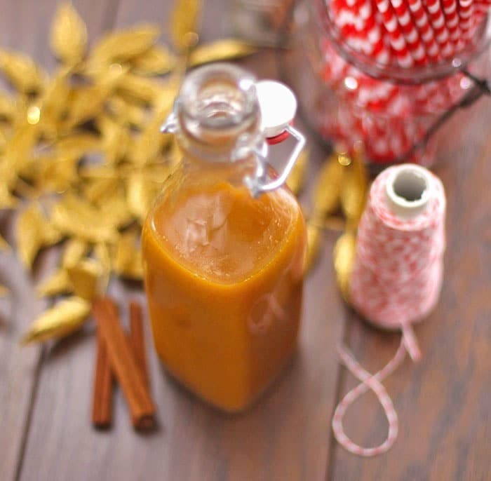 Healthy Butterscotch Pumpkin Spice Syrup - Healthy Dessert Blog