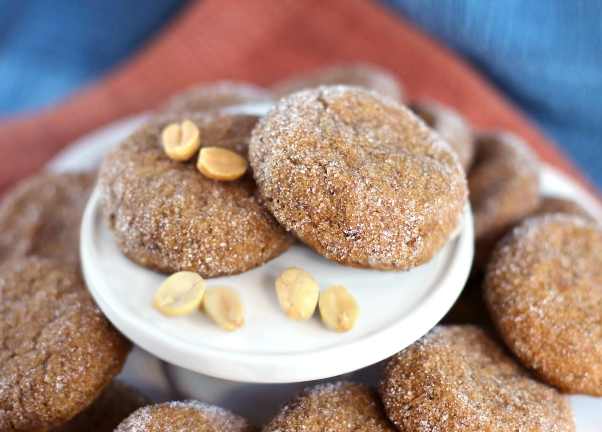 Healthy Peanut Butter Cookies (sugar free, low carb, high protein, high fiber, gluten free, dairy free, vegan)