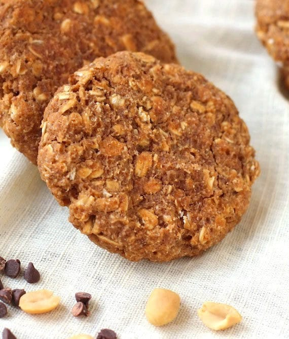 After one bite of these super thick, super soft, and super chewy cookies, you'd never ever guess that they're totally guilt-free and good for you! These Healthy Peanut Butter Oatmeal Cookies are packed with peanut butter flavor and hearty oatmeal texture, but they're flourless, refined sugar free, and made without butter and oil!