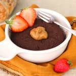 Healthy Healthy Single-Serving Chocolate Peanut Butter Microwave Cake - Healthy Dessert Recipes at Desserts with Benefits