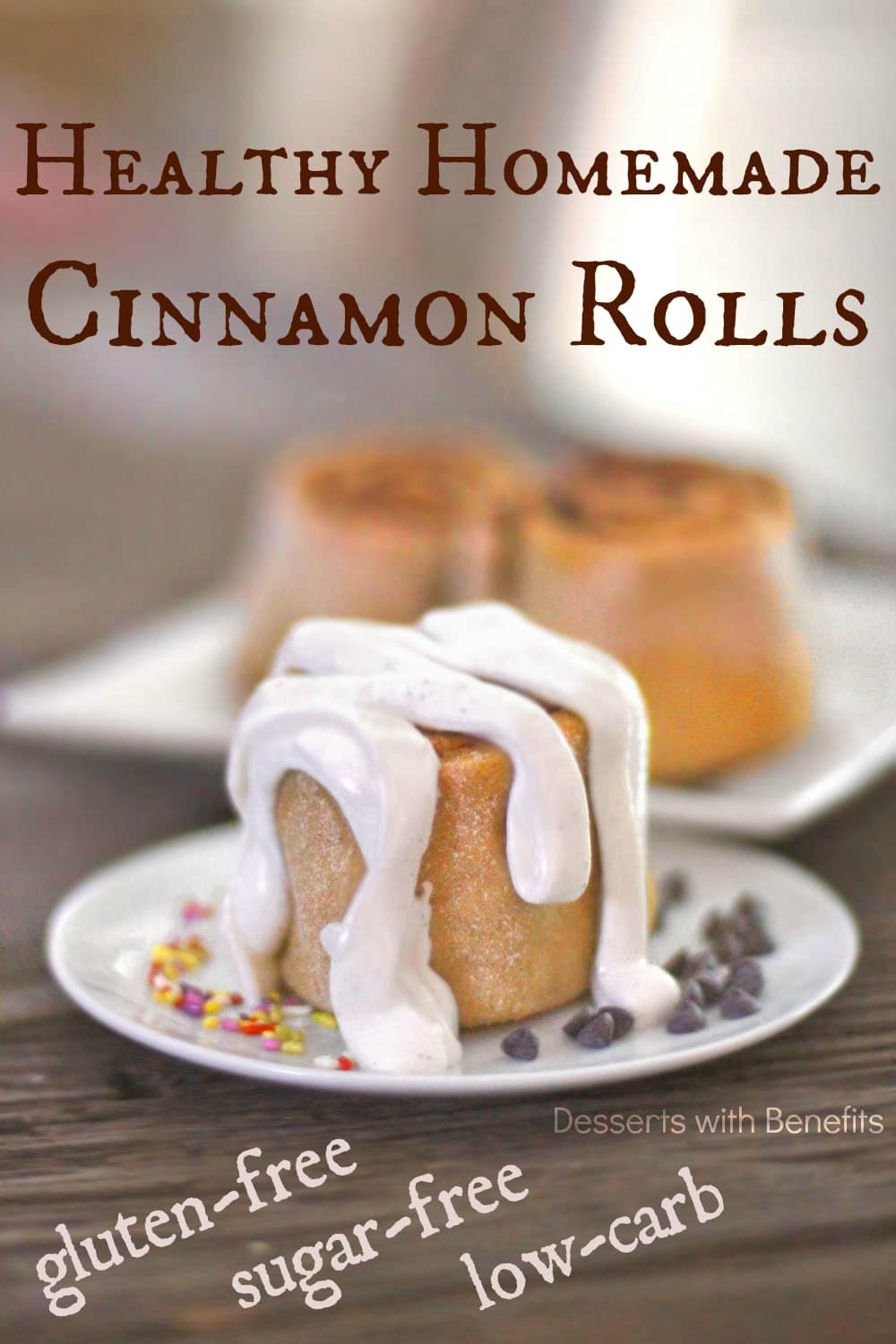Healthy Low Carb and Gluten Free Cinnamon Rolls