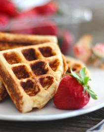 Healthy Low Carb and Gluten Free Waffles - Healthy Dessert Recipes at Desserts with Benefits