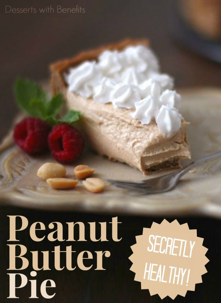 Healthy Peanut Butter Pie - Healthy Dessert Recipe Blog