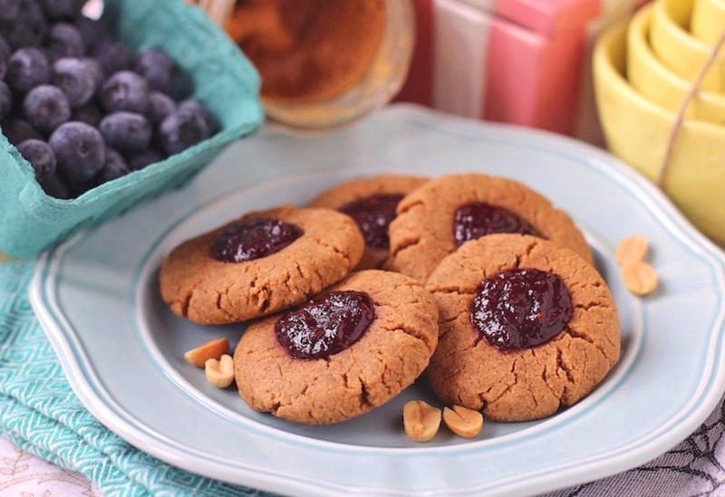 Guilt Free Peanut Butter and Jelly Cookies