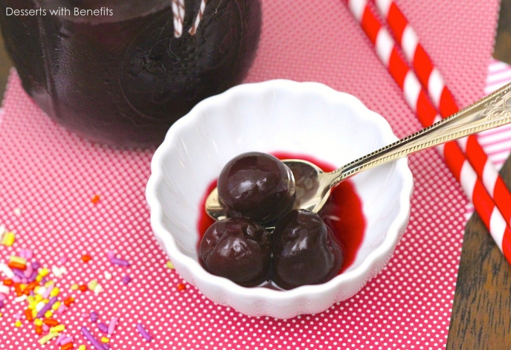 Healthy Homemade Maraschino Cherries (all-natural with no sugar added ...