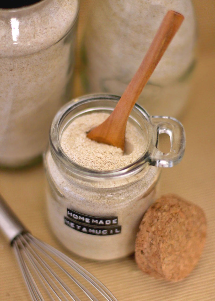 Storebought psyllium fiber supplements contain artificial food coloring and aspartame, but not this Healthy Homemade Psyllium Fiber Supplement! -- Healthy Dessert Recipes at Desserts with Benefits