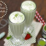 Healthy Matcha Green Tea Milkshake (sugar free, low fat, low carb and gluten free) - Healthy Dessert Recipes at Desserts with Benefits
