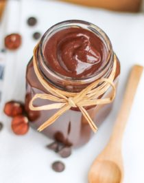 Healthy Homemade Nutella (sugar free, low carb, low calorie, low fat, gluten free, dairy free, vegan) -- Recipe in the Naughty or Nice Cookbook: The ULTIMATE Healthy Dessert Cookbook – Jessica Stier of the Desserts With Benefits Blog (www.DessertsWithBenefits.com)
