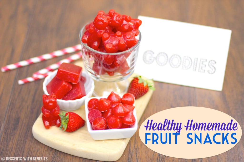 Healthy Homemade Fruit Snacks (all natural, sugar free, fat free, gluten free) - Healthy Dessert Recipes at Desserts with Benefits