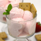 Healthy Strawberries and Cream Ice Cream (sugar free, low carb and low fat!)
