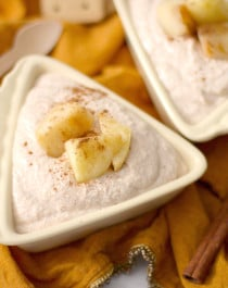 Healthy Apple Pie Cheesecake Dip (sugar free, low carb, low fat, high protein, gluten free) - Healthy Dessert Recipes at Desserts with Benefits