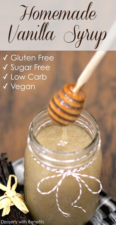 Sugar Free Dress: Healthy Homemade Sugar Free Vanilla Bean Syrup