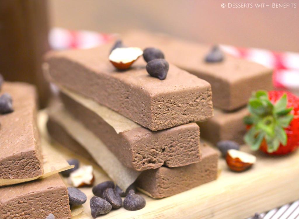 Healthy Nutella Fudge Protein Bars (sugar free, low fat, gluten free, vegan) - Healthy Dessert Recipes at Desserts with Benefits