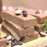 Healthy Nutella Fudge Protein Bars (sugar free, low fat, gluten free, vegan) - Healthy Dessert Recipes at Desserts with Benefits