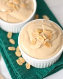 Healthy Peanut Butter Yogurt Dip (sugar free, low carb, low fat, high protein) - Healthy Dessert Recipes at Desserts with Benefits