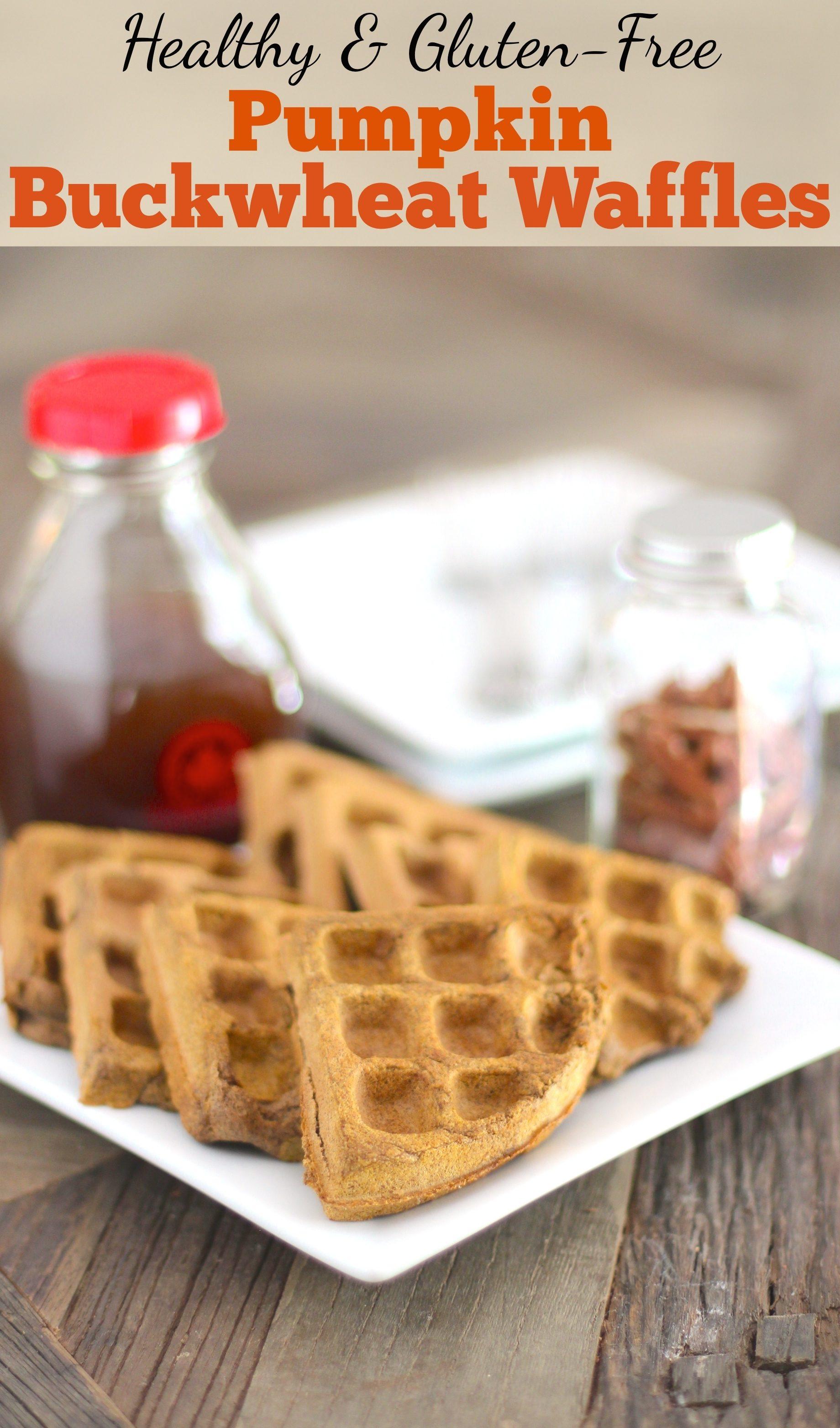 Healthy Pumpkin Buckwheat Waffles (sugar free, low fat, high fiber, high protein, gluten free, vegan) - Healthy Dessert Recipes at Desserts with Benefits