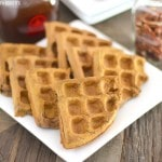Healthy Pumpkin Buckwheat Waffles (sugar free, low fat, high fiber, high protein, gluten free, vegan) - Healthy Dessert Recipes at Desserts with Benefits