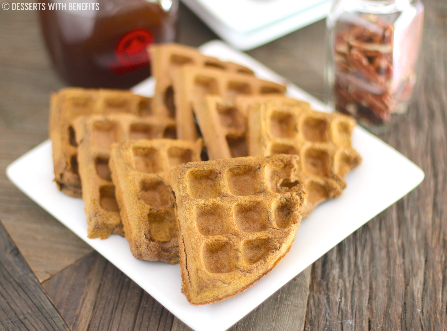 Low Fat High Fibre Cake Recipes: Healthy Pumpkin Buckwheat Waffles (gluten Free, Vegan