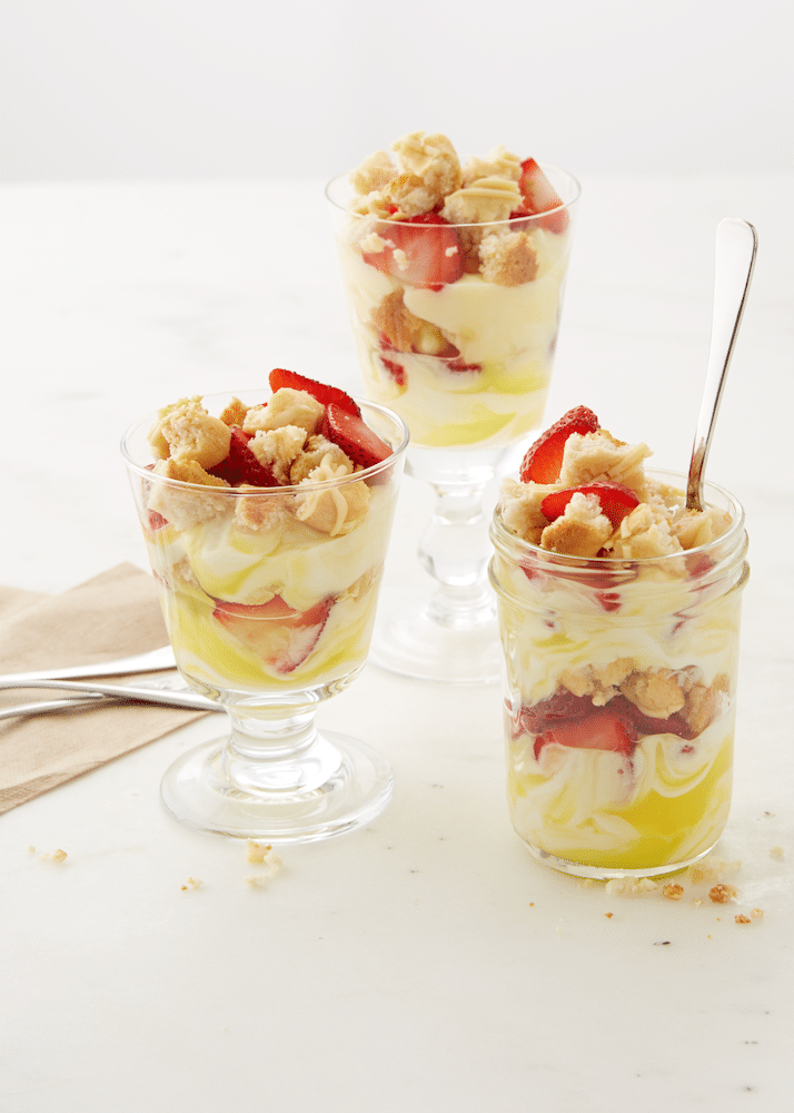 Lemon Strawberry Shortcake Trifle - Desserts with Benefits
