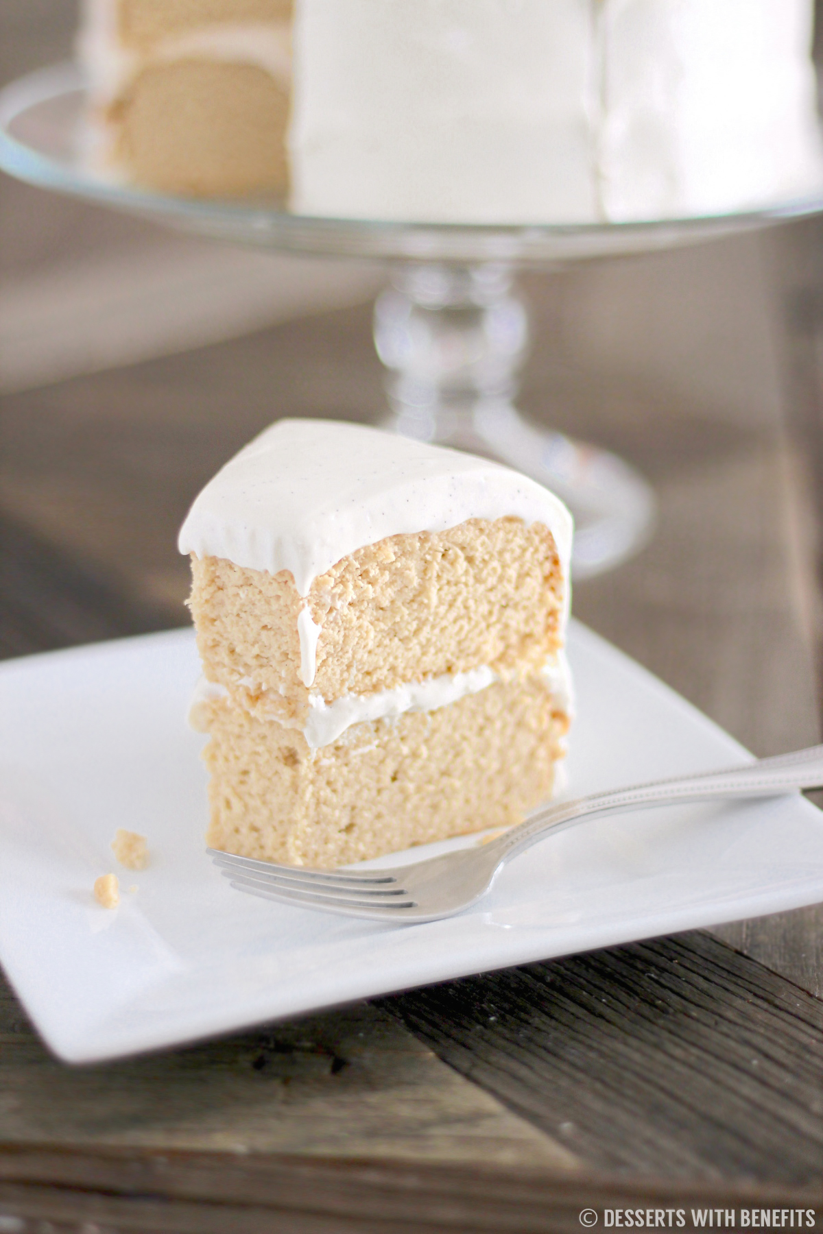 Healthy Vanilla Cake With Vanilla Bean Cream Cheese Frosting